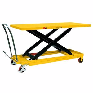 Picture of 500kg Huge Deck Size Scissor Lift Trolley with Foot Pump