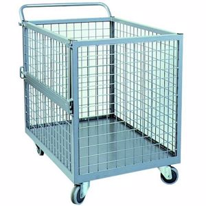 Picture of Full Mesh Stock Trolley with Drop Gate